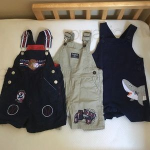 Set of 3 adorable overalls